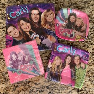Icarly paper plate party set